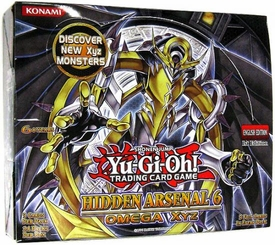 YuGiOh Hidden Arsenal 6: Omega Xyz Booster Box [24 Packs]