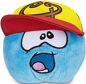 Disney Club Penguin 4 Inch Series 13 Plush Puffle Blue with Baseball Hat [Includes Coin with Code!]