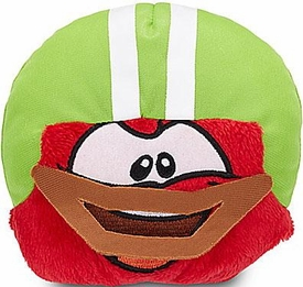 Disney Club Penguin 4 Inch Series 13 Plush Puffle Red with Football Helmet [Includes Coin with Code!]