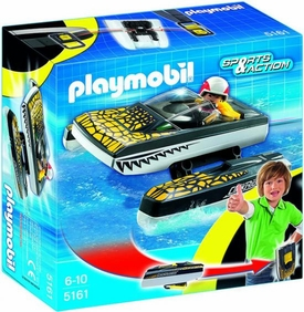 Playmobil Take Along Set #5161 Click & Go Croc Speedboat