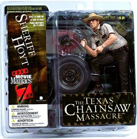 McFarlane Toys Movie Maniacs Series 7 Action Figure Sheriff Hoyt [Texas Chainsaw Massacre]