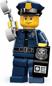 LEGO Minifigure Collection Series 9 LOOSE Mini Figure Policeman with Handcuffs & Badge with I.D.