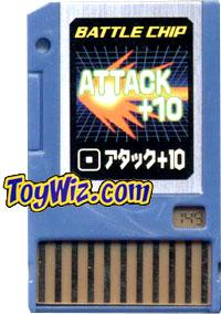 Mega Man Japanese Battle Chip #149 Attack + 10 Works with American PET!