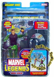 Marvel Legends Series 13 Action Figure Green Goblin Unmasked Variant [Onslaught Build-A-Figure]