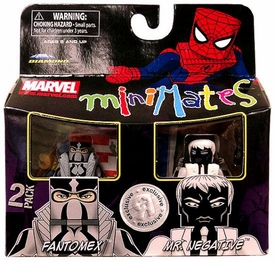Marvel MiniMates Exclusive Mini Figure 2-Pack Fantomex & Mr. Negative