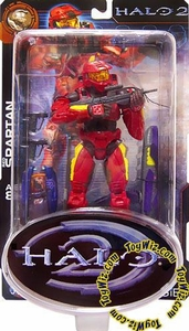 Halo 2 Action Figure Limited Edition Series 1 Red Spartan Version 1 (Yellow Stripes)