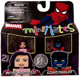 Marvel MiniMates Exclusive Mini Figure 2-Pack Betsy Braddock & Nightcrawler