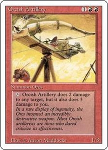 Magic the Gathering Revised Edition Single Card Uncommon Orcish Artillery