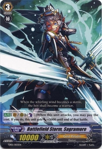 Cardfight Vanguard ENGLISH Slash of the Silver Wolf Single Card Fixed TD05-003EN Battlefield Storm, Sagramore