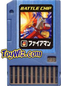 Mega Man Japanese Battle Chip #233 Torchman Works with American PET!