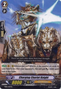 Cardfight Vanguard ENGLISH Slash of the Silver Wolf Single Card Fixed TD05-007EN Charging Chariot Knight