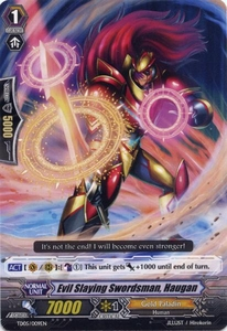 Cardfight Vanguard ENGLISH Slash of the Silver Wolf Single Card Fixed TD05-009EN Evil Slaying Swordman, Haugan