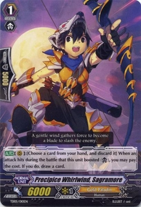 Cardfight Vanguard ENGLISH Slash of the Silver Wolf Single Card Fixed TD05-010EN Precipice Whirlwind, Sagramore