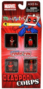 Diamond Select Toys Marvel Minimates NYCC 2011 New York Comic Con Exclusive 4-Pack Deadpool Corps [Deadpool, Championpool, Kidpool & Lady Deadpool]