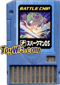 Mega Man Japanese Battle Chip #271 SparkMan DS Works with American PET!