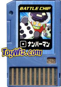 Mega Man Japanese Battle Chip #242 NumberMan  Works with American PET!