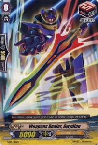 Cardfight Vanguard ENGLISH Slash of the Silver Wolf Single Card Fixed TD05-016EN Weapons Dealer, Gwydion