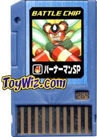 Mega Man Japanese Battle Chip #264 BurnerMan SP Works with American PET!