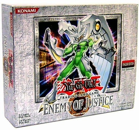 YuGiOh GX Enemy of Justice 1st EDITION Booster BOX [24 Packs]