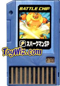 Mega Man Japanese Battle Chip #270 SparkMan SP Works with American PET!