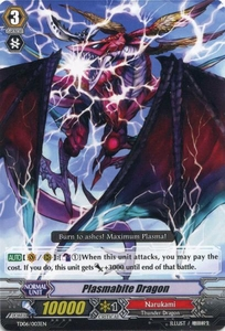 Cardfight Vanguard ENGLISH Resonance of the Thunder Dragon Single Card Fixed TD06-003EN Plasmabite Dragon