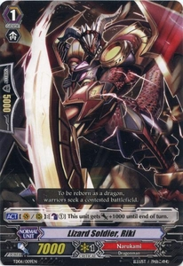 Cardfight Vanguard ENGLISH Resonance of the Thunder Dragon Single Card Fixed TD06-009EN Lizard Soldier, Riki