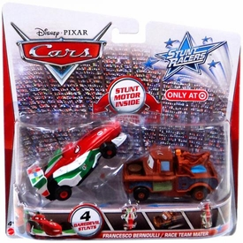 Disney / Pixar CARS Stunt Racers Exclusive 2-Pack Francesco Bernoulli & Race Team Mater