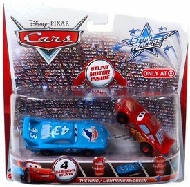 Disney / Pixar CARS Stunt Racers Exclusive 2-Pack The King & Lightning McQueen