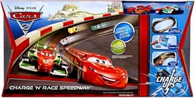 Disney / Pixar CARS 2 Movie Exclusive Charge Ups Track Set Charge 'N' Race Speedway