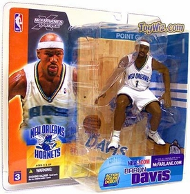 McFarlane Toys NBA Sports Picks Series 3 Action Figure Baron Davis (New Orleans Hornets) White Jersey
