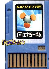 Mega Man Japanese Battle Chip #030 Energy Bomb Works with American PET!