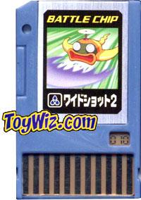 Mega Man Japanese Battle Chip #010 Wideshot 2 Works with American PET!
