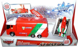 Disney / Pixar CARS Stunt Racers Transforming Transporter SAL & Francesco Bernoulli