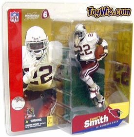 McFarlane Toys NFL Sports Picks Series 6 Action Figure Emmitt Smith (Arizona Cardinals) White Jersey Red Gloves Variant