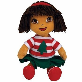 Ty Christmas Dora the Explorer Beanie Baby Holiday Dora