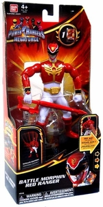 Power Rangers Megaforce Deluxe Action Figure Battle Morphin Red Ranger