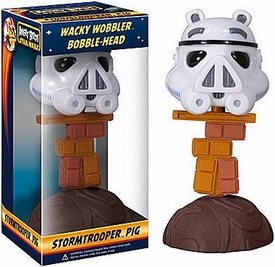 Funko Angry Birds STAR WARS Wacky Wobbler Bobble Head Stormtrooper Pig