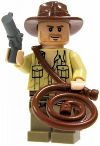 LEGO Indiana Jones LOOSE Mini Figure Indiana Jones Fully Equipped [No Jacket]