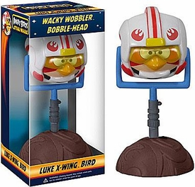 Funko Angry Birds STAR WARS Wacky Wobbler Bobble Head Luke X-Wing Bird