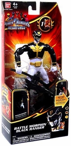 Power Rangers Megaforce Deluxe Action Figure Battle Morphin Black Ranger