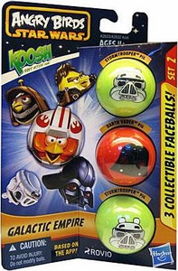 Angry Birds STAR WARS KOOSH Ball Faceball 3-Pack Galactic Empire