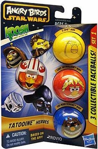 Angry Birds STAR WARS KOOSH Ball Faceball 3-Pack Tatooine Heroes