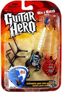 Mcfarlane Toys Guitar Hero 2009 Mix & Match Guitars Wave 1 Feedback [Machine] & Frydaze [Tiger Stripes]