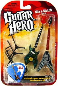 Mcfarlane Toys Guitar Hero 2009 Mix & Match Guitars Wave 1 Widowmaker [Dragon] & Voracious [Cubert]