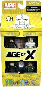 Marvel Minimates Exclusive Mini Figure 4-Pack Age of X [Gambit, Magneto, Basilisk & Legacy]