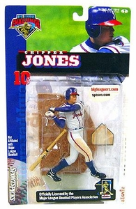 McFarlane Toys MLB Sports Picks Club Exclusive Big League Challenge Action Figure Chipper Jones Slightly Yellowed Packaged!