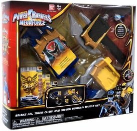 Power Rangers Megaforce Deluxe Battle Gear Snake Ax, Tiger Claw & Shark Bowgun