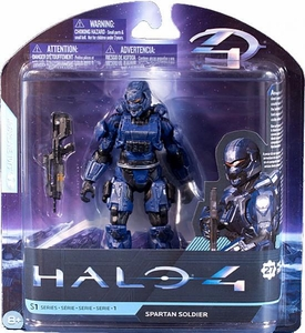 Halo 4 McFarlane Toys Series 1 Extended Action Figure BLUE Spartan Soldier