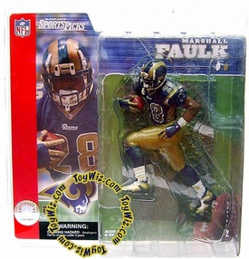 McFarlane Toys NFL Sports Picks Series 2 Action Figure Marshall Faulk (St. Louis Rams) Blue Jersey