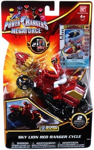 Power Rangers Megaforce Vehicle & Figure Red Cycle with Red Ranger
